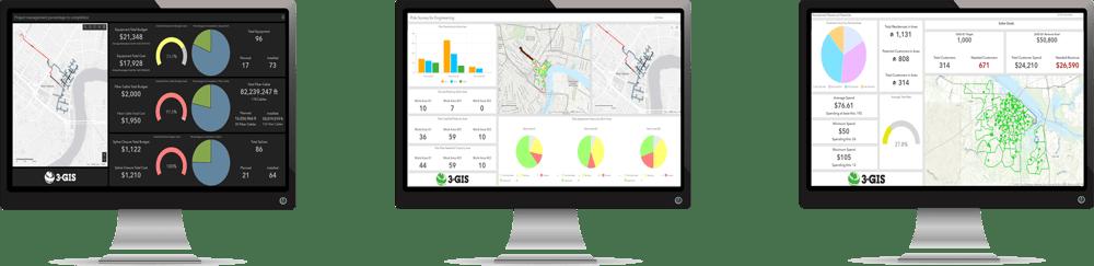 3-GIS dashboards